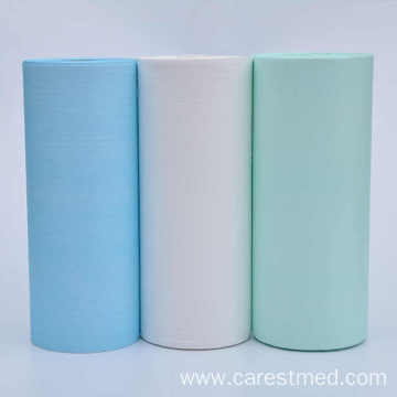Disposable Paper Sheet Rolls with Laminated PE Film Bib Rolls for Medical Use